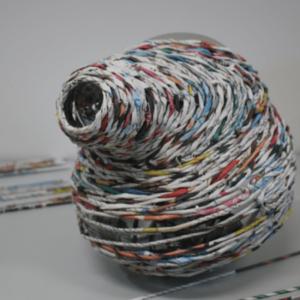 Décoration atypique verre soufflé argent papier grand format pièce unique